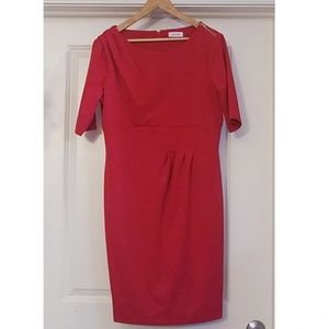 Calvin Klein Red Women's Size 12 Dress